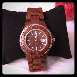 Accessories - Mohagany wooden woman's watch stainless clasp SALE